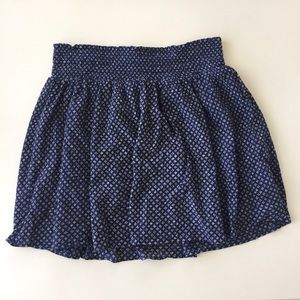 Blue skirt with pretty detail fabric